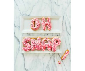donut, food, and oh Snap image