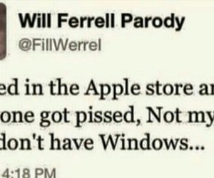 apple, ferrell, and funny image