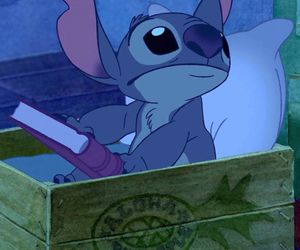 stitch, disney, and book image