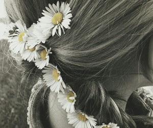 blonde, daisy, and flowers image