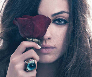 Mila Kunis, rose, and ring image