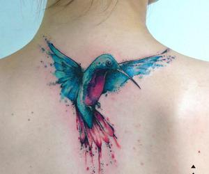 tattoo, bird, and color image