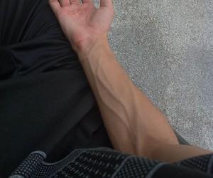 boy, veins, and grunge image