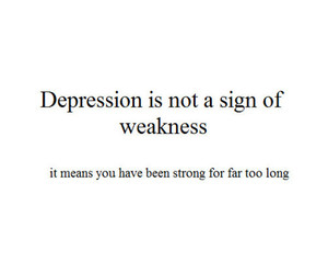 strong, depression, and quote image
