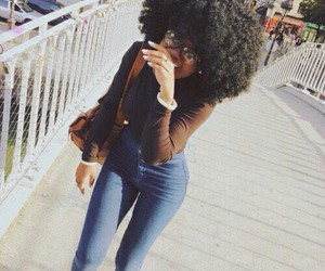 Afro, kinky, and outfit image