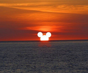 disney, sun, and mickey image