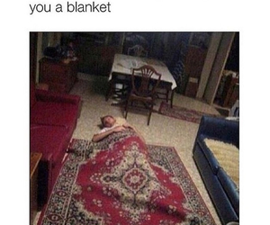funny, friends, and blanket image
