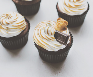 chocolate, cupcakes, and s'mores image