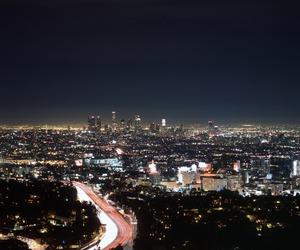 ca, city, and lights image