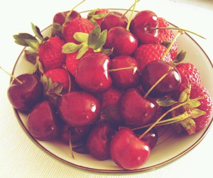 cherry, food, and sweet image