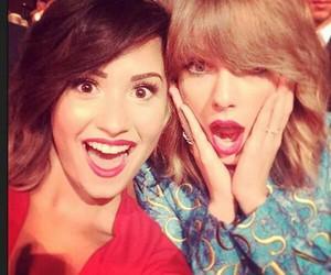 demi lovato, Taylor Swift, and vma image