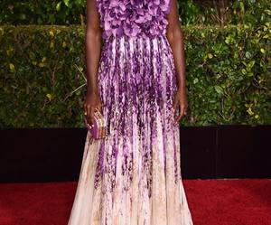 dresses, golden globes, and lupita image