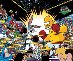 funny, simpsons, and cartoon image