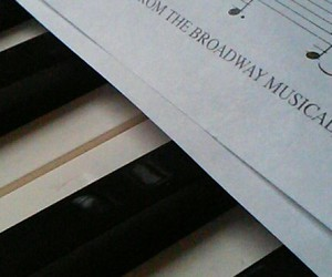 broadway, music, and piano image