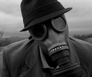 black and white, mask, and photo image