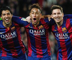 messi, neymar, and suarez image