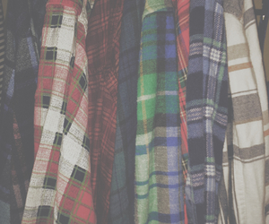 clothes, flannel, and grunge image