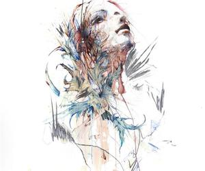 traditional art and carne griffiths image