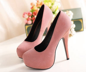 pink, shoes, and heels image
