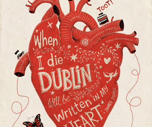 heart, dublin, and quote image