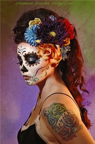 day of the dead and dia de los muertos image