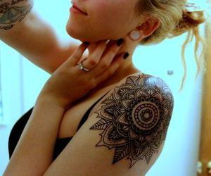 mandala, tattoo, and tatuaje image