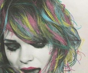 colors, crazy, and girl image