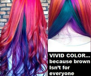 beauty, dyed hair, and fashion image
