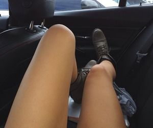 legs, car, and grunge image