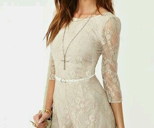 lace, dress, and outfit image