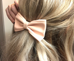 blonde, hair, and bow image