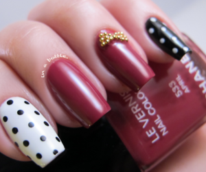 nails, red, and chanel image