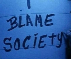 society, blame, and grunge image