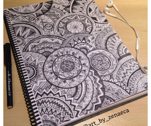 art, drawing, and zentangle image
