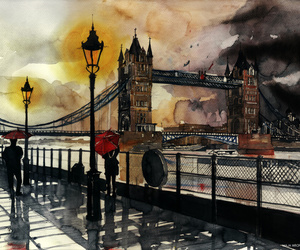 london, art, and painting image