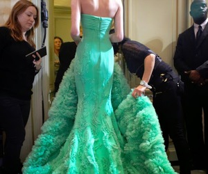 dress, green, and model image