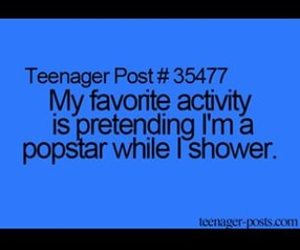 funny, pop star, and shower image
