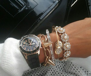 bling, bracelets, and watch image