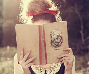 book, hair, and imagination image