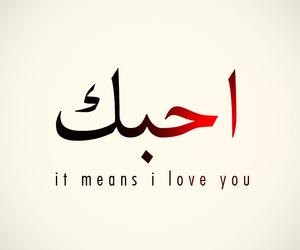love, arabic, and I Love You image