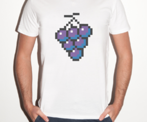 clothes, FRUiTS, and grape image