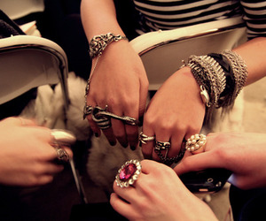 jewelry, bracelets, and hands image
