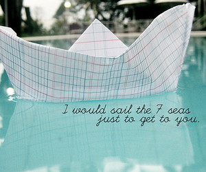 quote, sea, and sail image