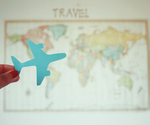 travel, map, and plane image