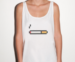 cigarette, clothes, and pixel image