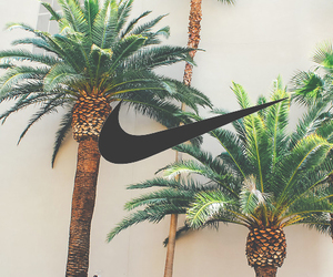 nike, wallpaper, and palm trees image
