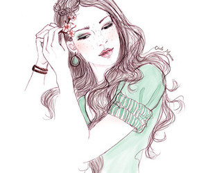 drawning, nature, and ilustration fashion image