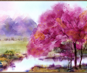 art, spring, and japan image