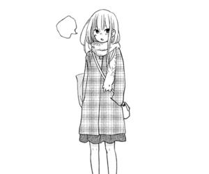 anime, black &white, and kawaii image