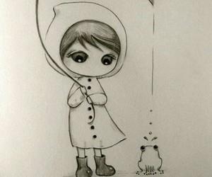 art, drawing, and frog image